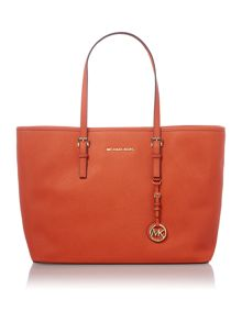 Jet Set Travel orange medium tote bag