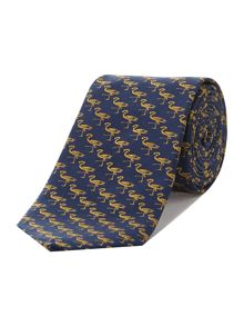 Apollo Flamingo jacquard tie