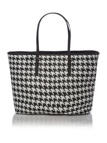 Jet Set Travel monochrome tote bag