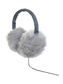 KitSound Faux fur audio earmuff