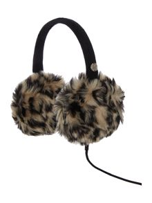 Faux fur audio earmuff