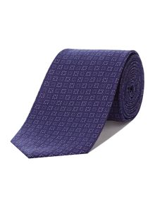 Bayport dotted square jacquard tie
