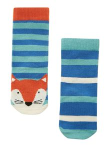 Boys 2 pack fox socks