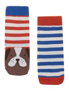 Boys 2 pack dog socks