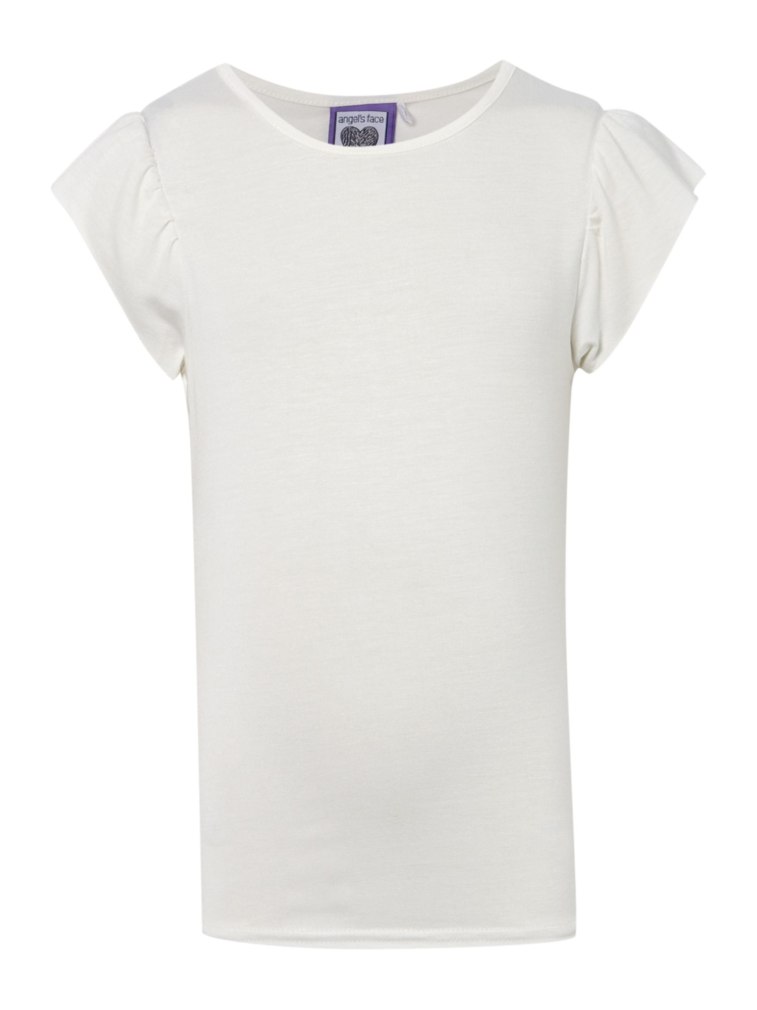 Angel's Face Angel's Face Girls t-shirt with diamante wings to back, Cream