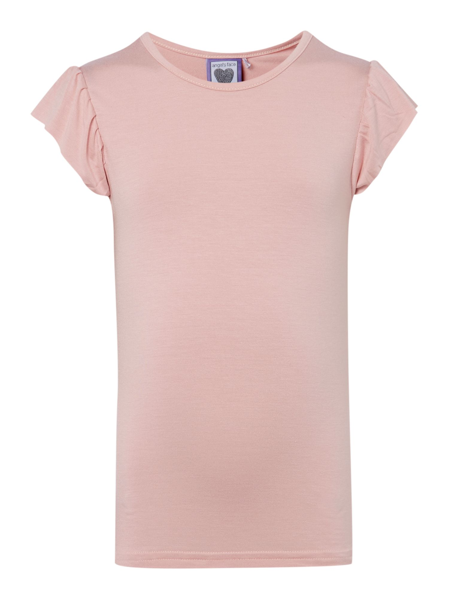 Angel's Face Angel's Face Girls t-shirt with diamante wings to back, Light Pink
