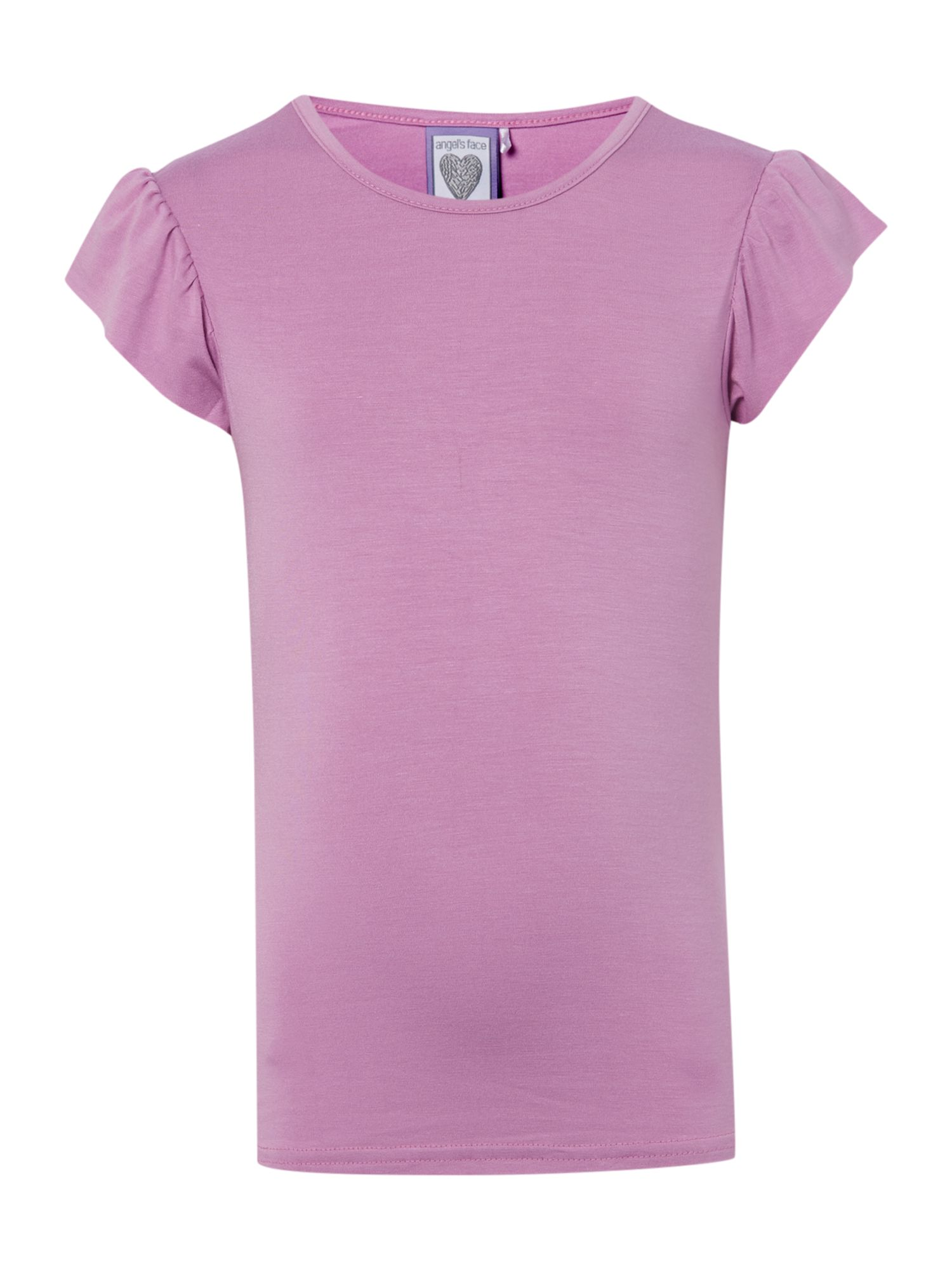 Angel's Face Angel's Face Girls t-shirt with diamante wings to back, Violet