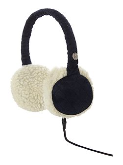 Sheepskin audio earmuff