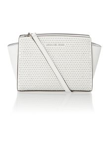 Selma micro stud white cross body bag bag