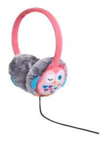 Owl knit audio earmuff