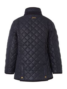 Boys quilted funnel neck jacket