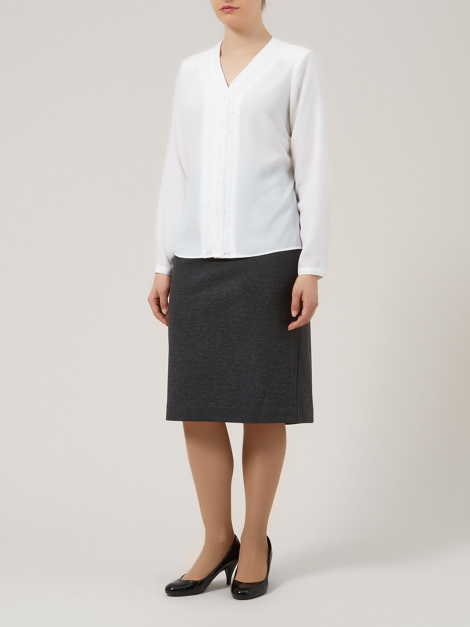 Chevron ponti pencil skirt