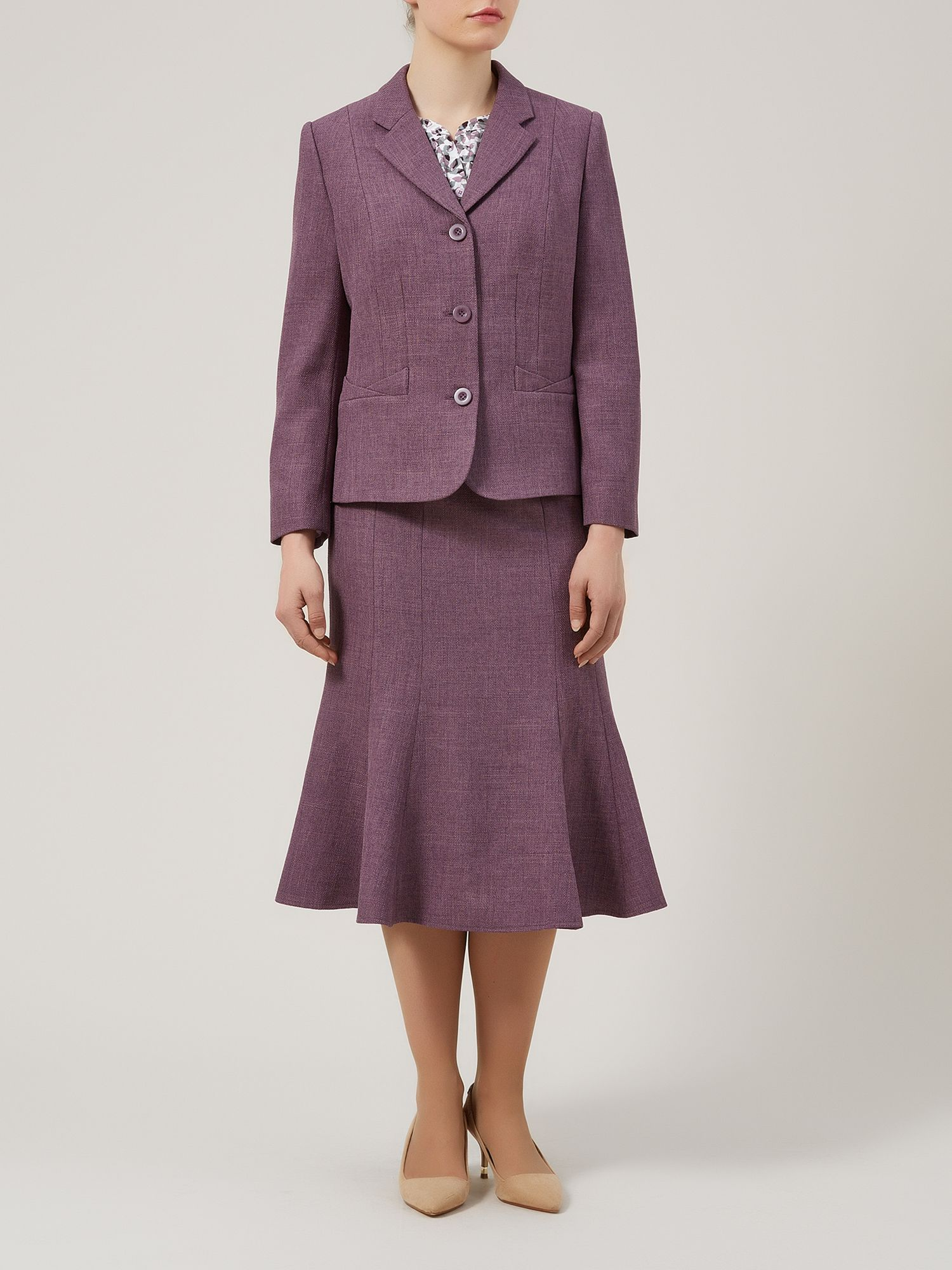 Heather basket weave jacket