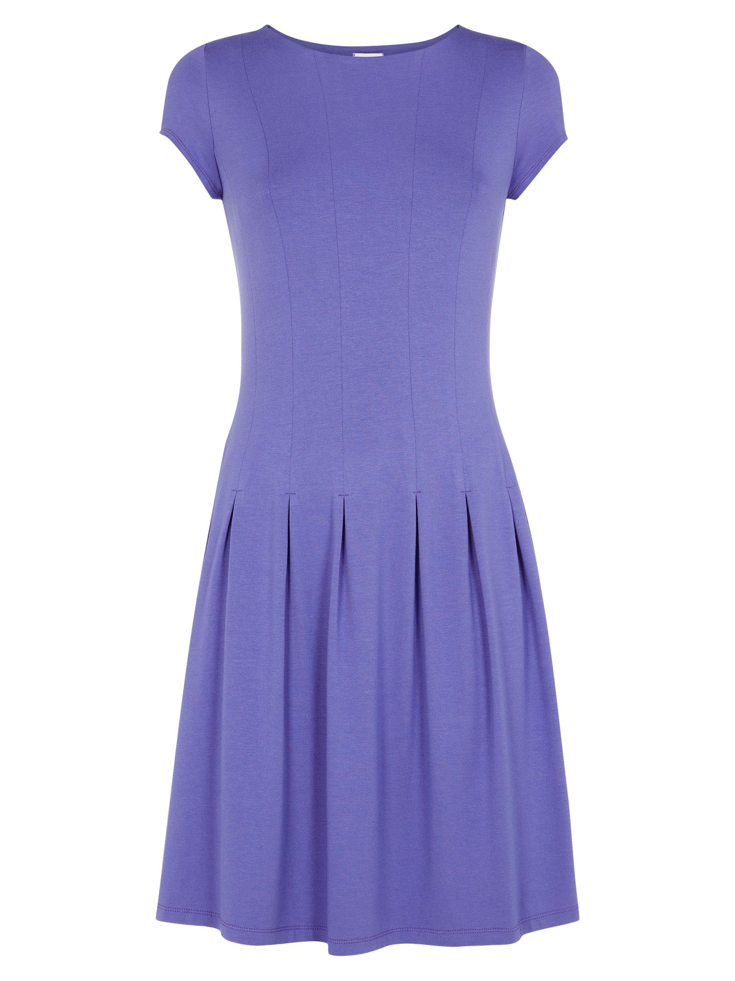 Purple pleat dress