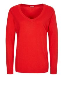 Coral pointelle jumper