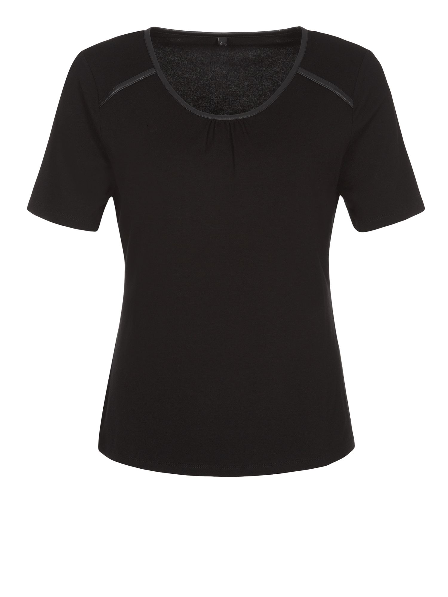 Black contrast trim top