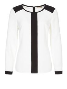 Ivory contrast blouse