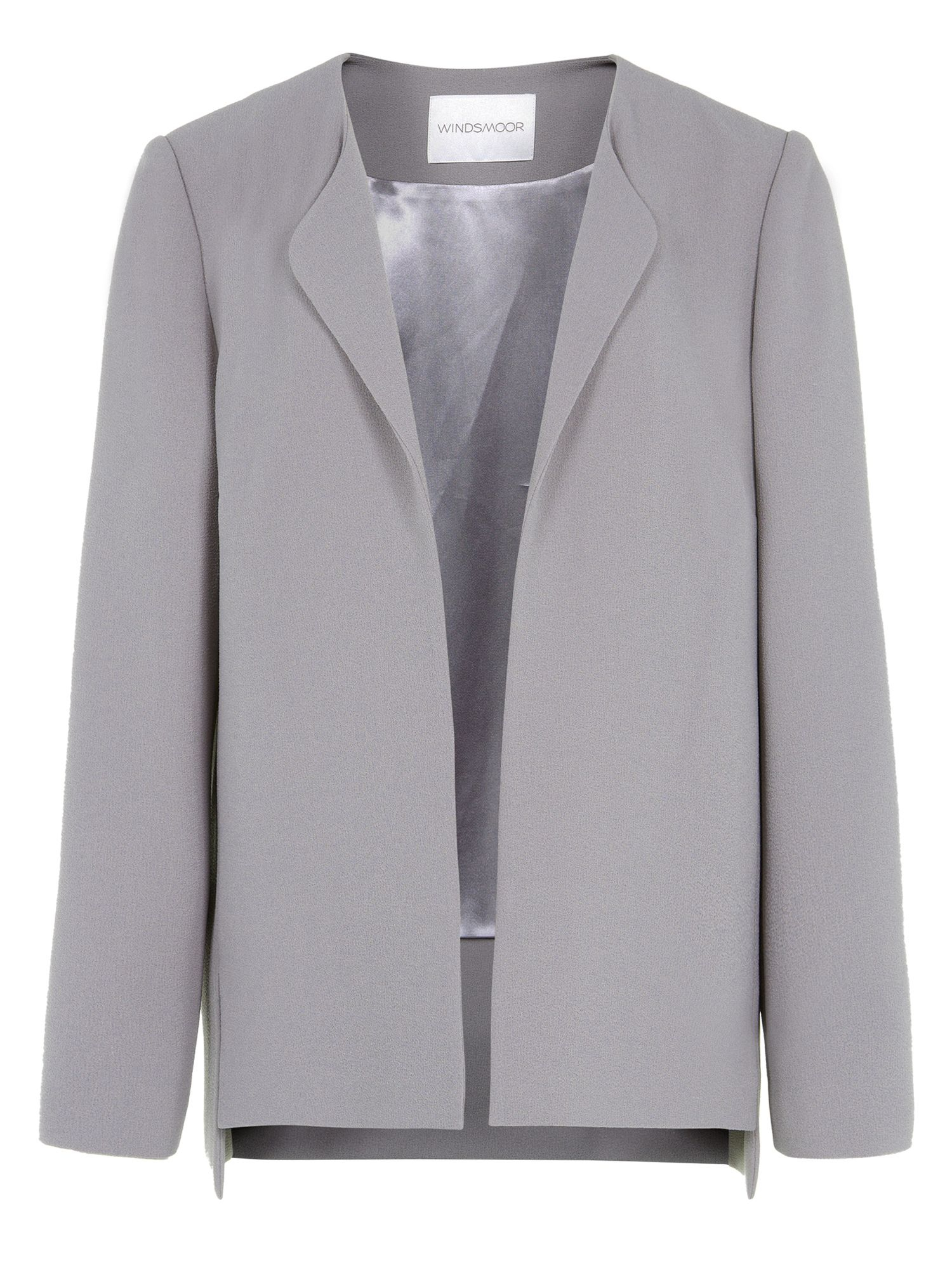 Silver high low jacket