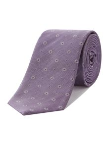 Hever miniture floral jacquard tie