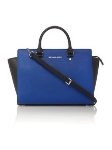 Selma multi coloured block tote bag