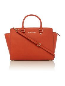 Selma orange tote bag