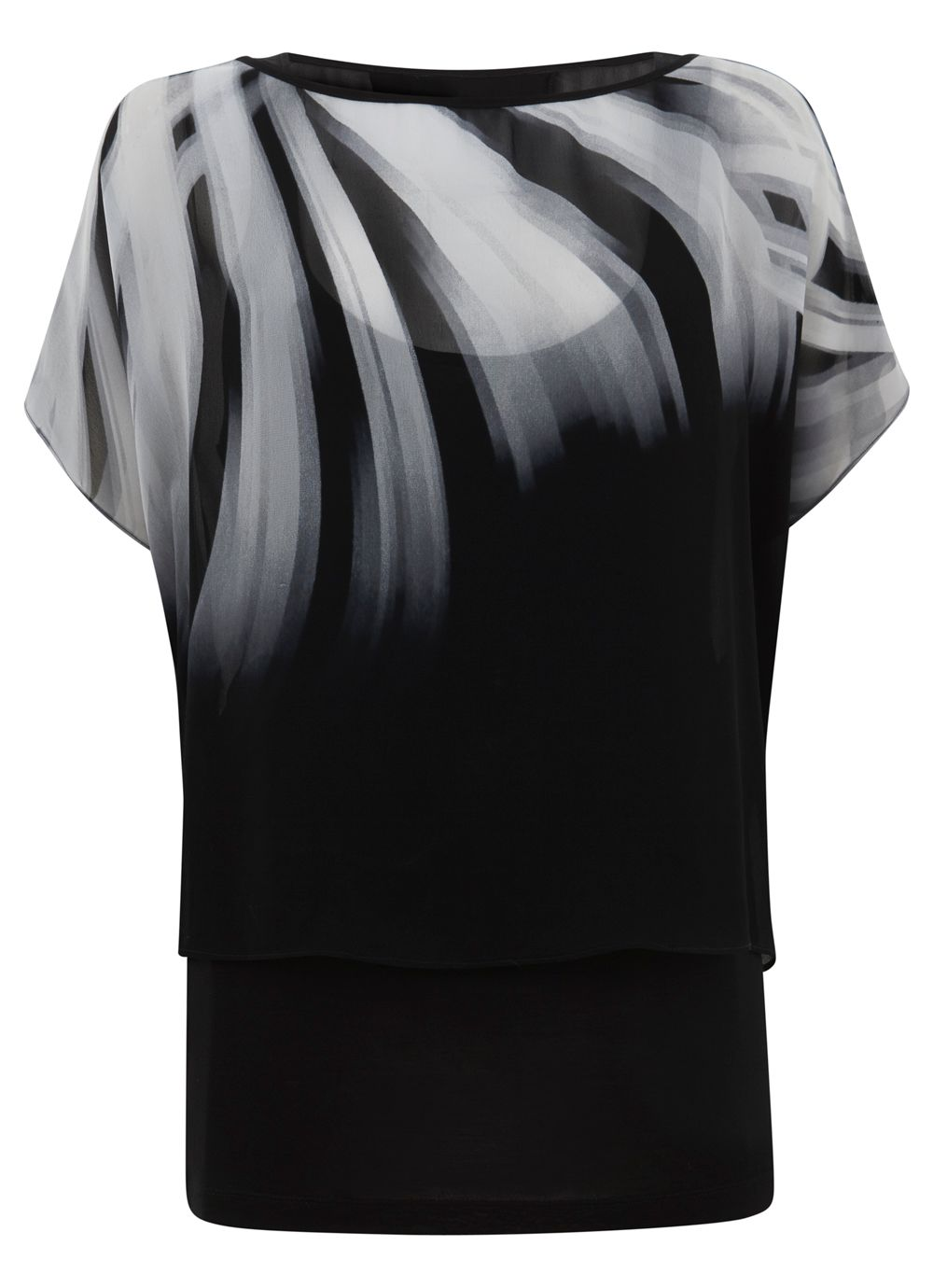 Faye Print Double Layer Top