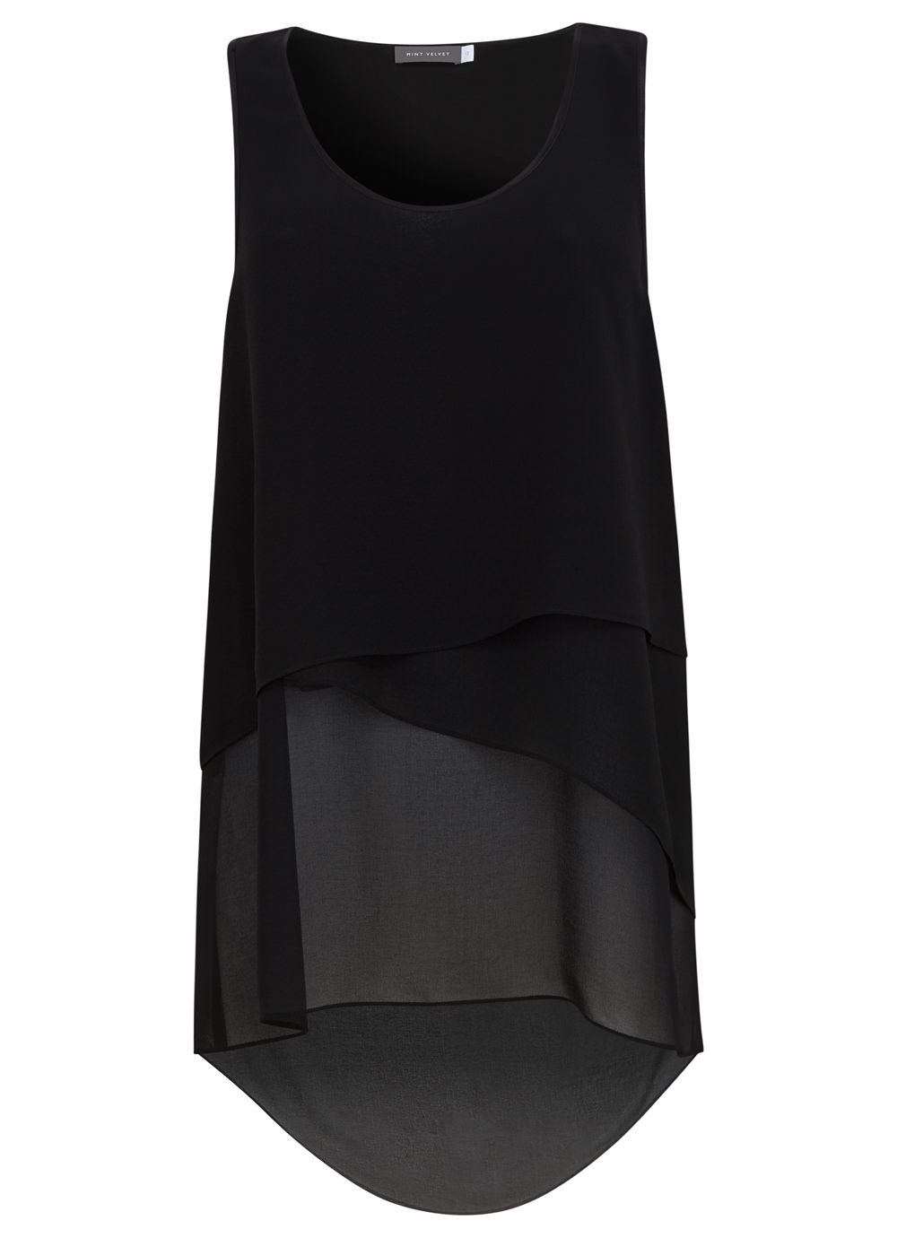 Black Asymmetric Tunic