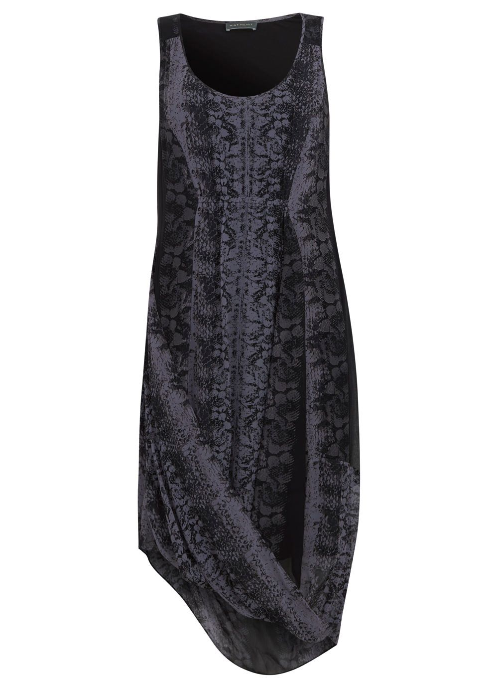 Katy Print Draped Cocoon Dress