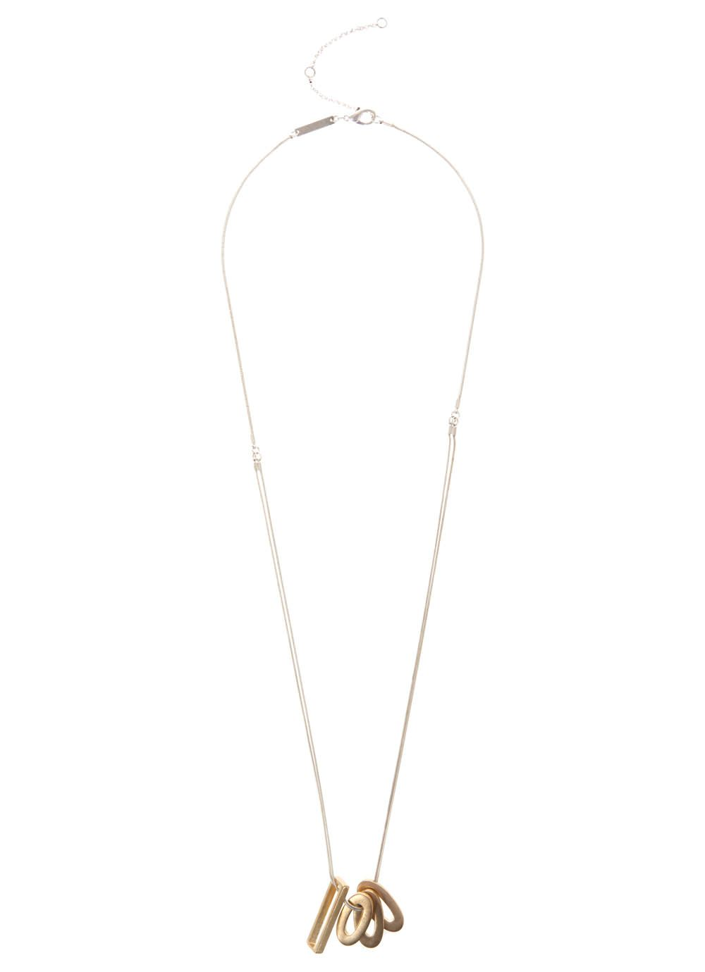 Oval & Rectangle Necklace
