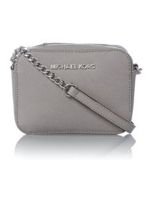 Jet Set Travel grey small chain cross body bag