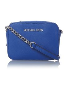 Jet Set Travel blue small chain cross body bag