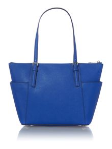 Jet Set Item blue zip top tote
