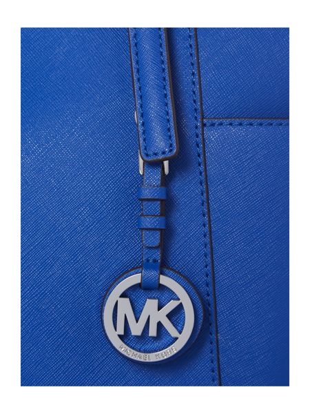 Michael Kors Jet Set Item blue zip top tote