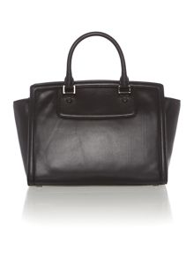 Selma zip stud black large tote bag