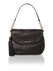 Weston black medium flap over shoulder bag