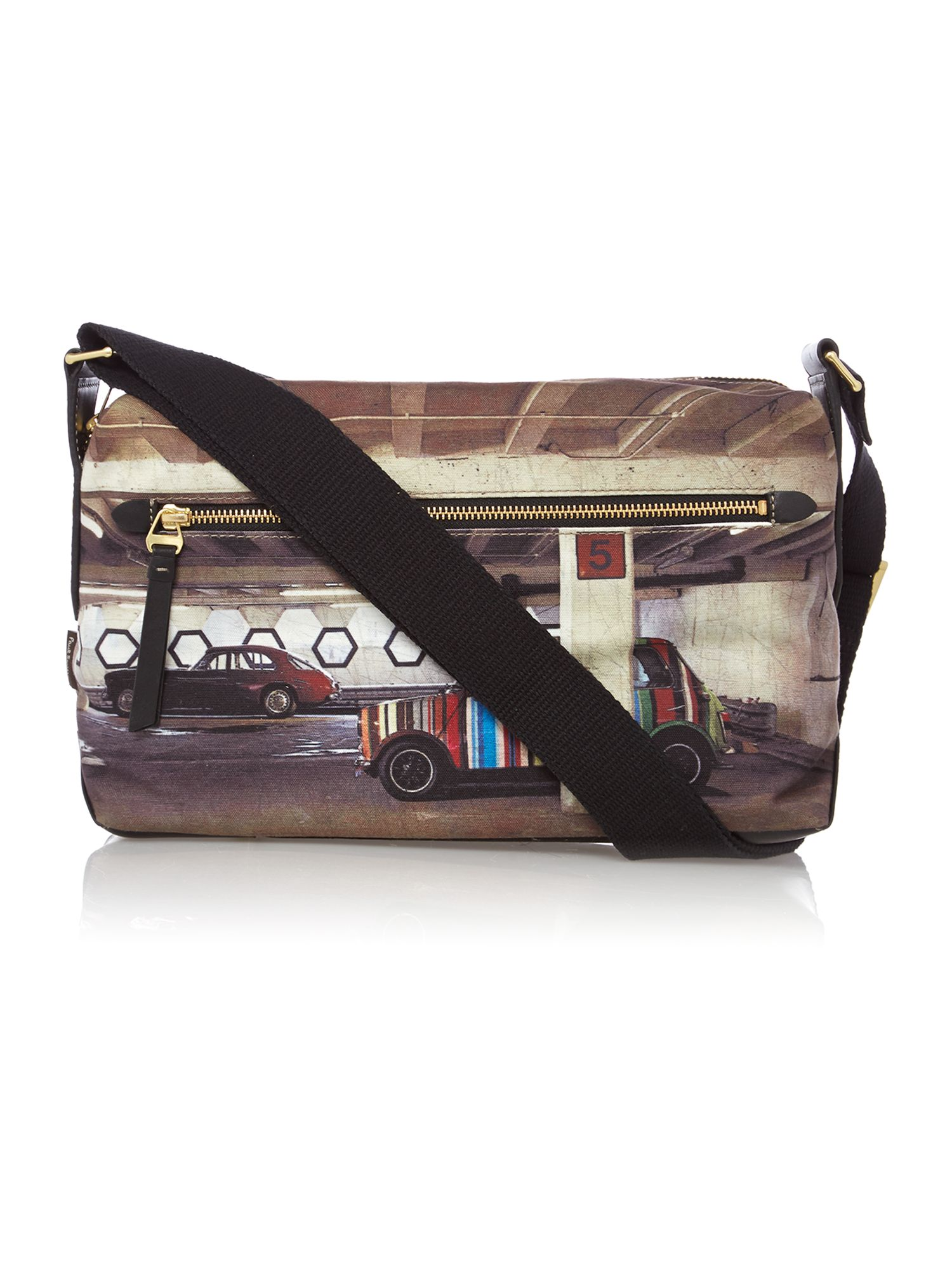 Mini carpark cross body bag