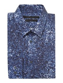 Kenneth Cole Crantore pixel print satin shirt
