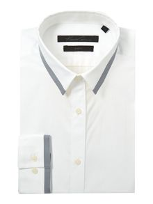 Kenneth Cole Duncan contrast collar and cuff shirt