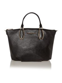 Vanessa black large slouch tote bag