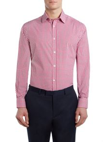 Danville wide gingham check shirt