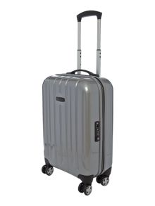 Linea Movelite silver 4 wheel hard cabin suitcase
