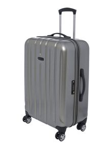 Linea Movelite silver 4 wheel hard medium spinner