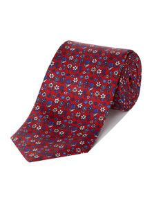 Downing floral print silk tie