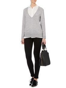 Alex Deep V Neck Merino Knit