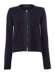 Pennyblack Navy Collarless Knit Jacket