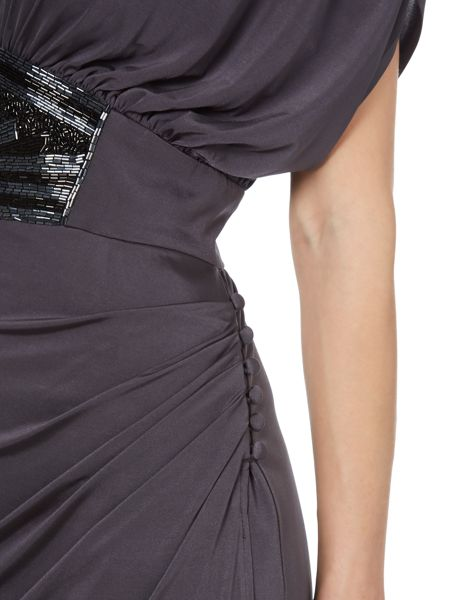 Biba Embellished waist drape shoulder maxi dress