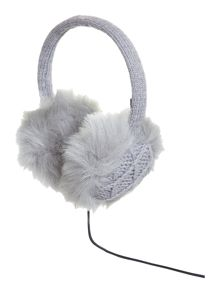 Diamond knit audio earmuff