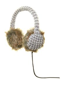Multi knit audio earmuff