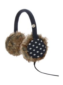 Polka dot audio earmuff
