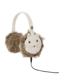 Cat knit audio earmuff